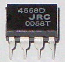 JRC 4558D dual op amp