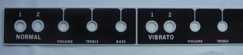 Fender faceplate / front panel for Deluxe Reverb blackface