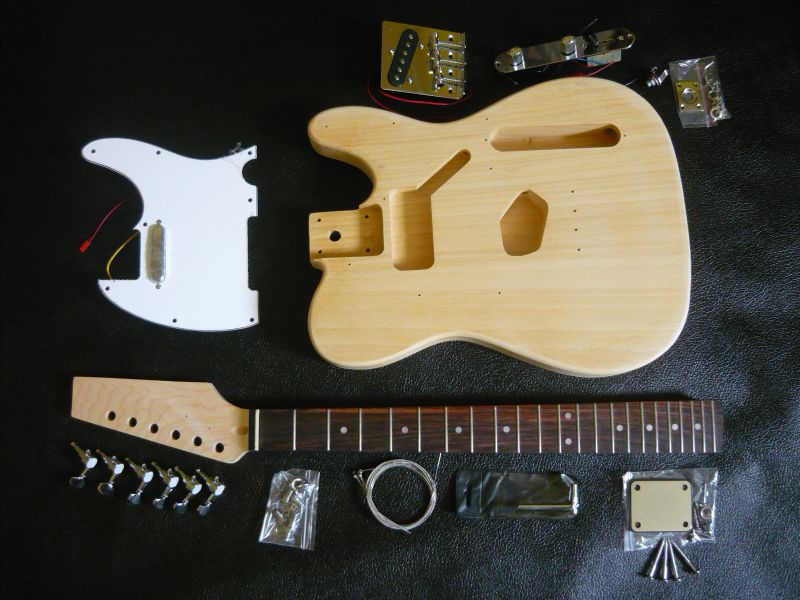 Electric guitar kit t style telecaster diy do it yourself electric guitar kit t style solutioingenieria Image collections