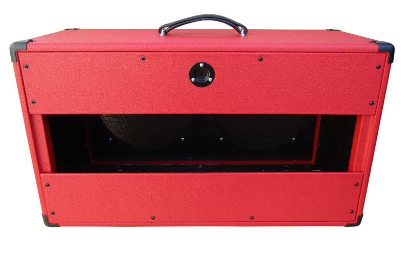 Marshall style Speaker cabinet 2x12 -red levant tolex