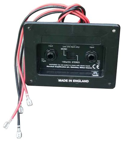 Marshall speaker cab jack plate stereo/mono/Buchsenanschlusspanel