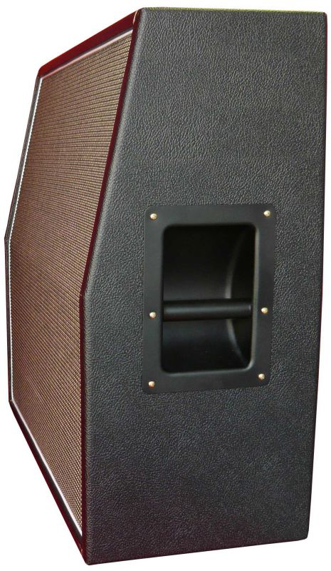 Marshall style salt & pepper/black levant Speaker cabinet 2x12