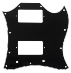 Pickguard SG style, 1 ply black