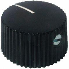 Fender style vintage barrel black knob