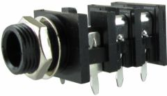Fender® Input Jack stereo, 6 pin, pc mount