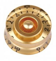 Speed knob, gold with black numbers