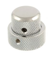 Concentric Stacked knob, chrome metal