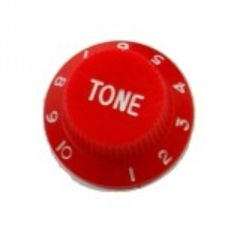 Strat tone knob, red
