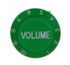 Strat volume knob, green