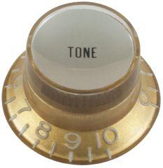 Top hat tone guitar knob, gold