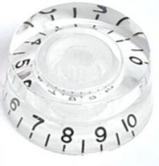 Speed knob, transparent with black numbers