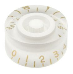 Speed knob, white with gold numbers