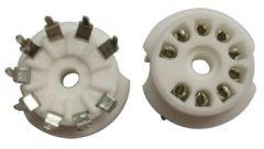 9-pin ceramic tube socket, pc mount