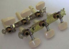 Concert guitar tuning keys, nickel