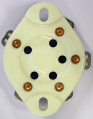 UX5 tube socket, ceramic