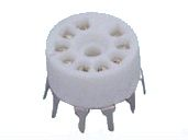 9-pin ceramic tube socket