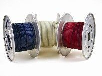 vintage cloth wire, awg 22, solid red