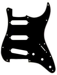Pickguard Strat 3 SC, 3 ply, black