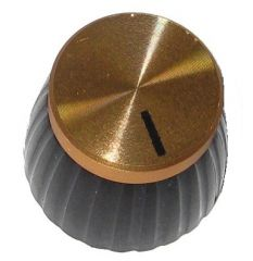 Marshall® knob shaft with set-screw, gold cap
