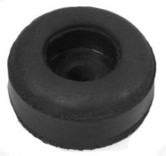 Rubber cabinet feet, 25 x 11 mm, black
