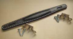 AMPEG style black leatherette handle, raised