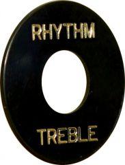 Rhythm/treble plate, black